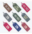 sale tags web icons vector image vector image