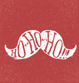 Santa vintage moustache On textured grunge red vector image vector image