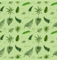 seamless background design with green leaves vector image vector image