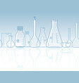 seamless laboratory chemical banner vector image