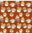 Seamless pattern with hand drawn decorated sweet vector image vector image