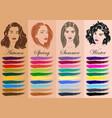 seasonal color analysis hand drawn girls vector image vector image