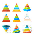 set different triangles and pyramids vector image