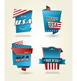 Set of four Made in USA labels vector image vector image