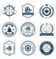 Set of Yacht Club Labels Design Elements vector image vector image