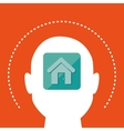 silhouette house icon vector image vector image