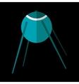 Sputnik flat icon vector image vector image