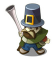 statuette in form a hunter with a gun vector image vector image