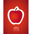 stickers apple red background vector image vector image