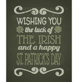 Stpatricks day chalkboard design vector | Price: 1 Credit (USD $1)