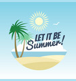 summer vacation logo design - rest background with vector image