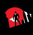 super businessman background symbol vector image vector image