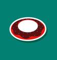 sweet dessert in paper sticker donut vector image vector image