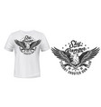 t-shirt print template eagle shooters club vector image