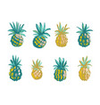 tropical beach party pineapples ananas grunge vector image vector image