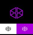 violet box logo web online shop vector image vector image