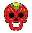 latin skull icon cartoon vector image
