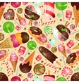 Candy and sweets background vector image