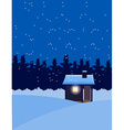 house in winter snow vector image