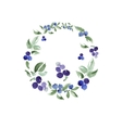 Watercolor floral ornament in a circle vector image
