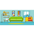 apartment living room interior vector image vector image