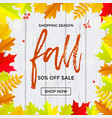 autumn fall sale banner shopping discount poster vector image vector image