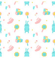 baby shower seamless pattern with newborn vector image vector image