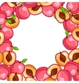 Background design with stylized fresh ripe peaches vector image