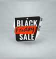 black friday sale sticker discount banner special vector image vector image