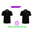 blank black and white t-shirt set template vector image vector image