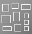 Blank picture frames set on the wall vector image vector image