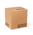 Carton box isolated vector image vector image