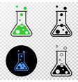 chemical retort eps icon with contour vector image