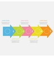 Colorful arrow line Five step Timeline Infographic vector image