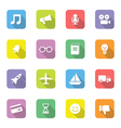 colorful web icon set 5 on rounded rectangle with vector image vector image