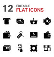 commerce icons vector image vector image