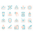 cosmetology and skin care color linear icon set vector image vector image