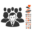 crowd icon with lovely bonus vector image vector image
