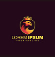 Crown lioness gradient logo design