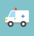 cute ambulance car flat design icon vector image