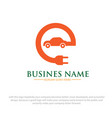 electric car logo designs vector image