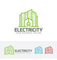 electric city logo design vector image