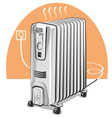 electric oil heater vector image vector image