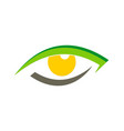 eye optic watch logo vector image vector image