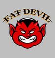 fat devil face vector image vector image