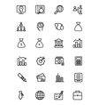 Finance Line Icons 1 vector image