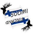 finland in stickers vector image
