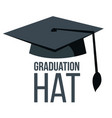 graduation hat black academic student cap vector image
