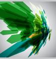 green arrows in motion vector image vector image