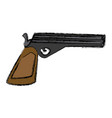handgun weapon isolated vector image vector image